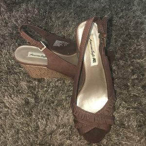 American Eagle by Payless Cork Wedge
